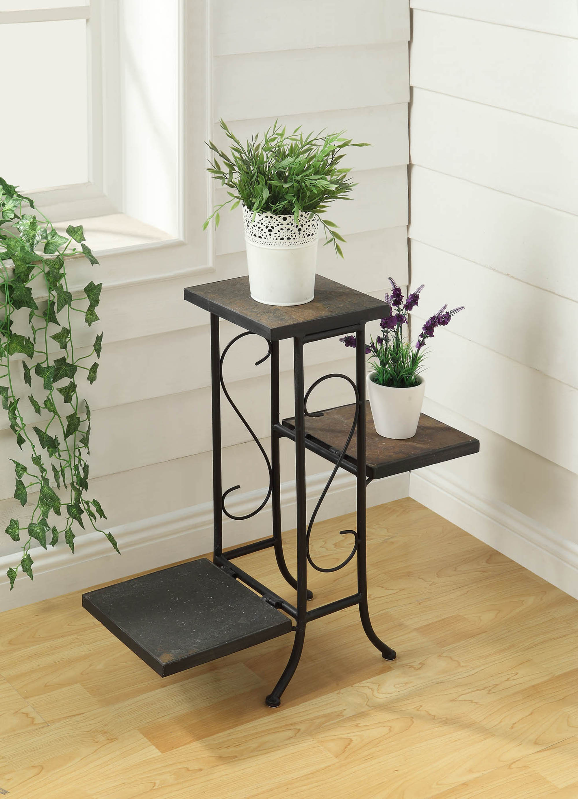 Pleasant 3 Tier Plant Stand W Slate Top Alphanode Cool Chair Designs And Ideas Alphanodeonline