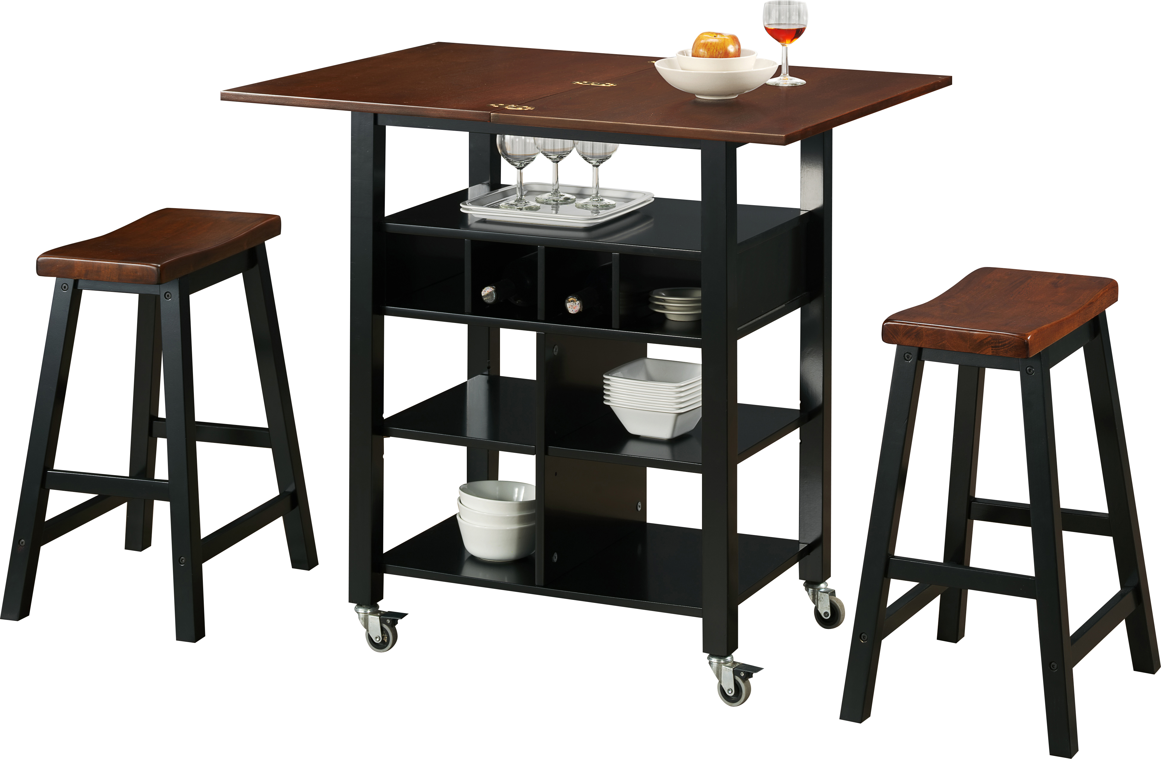 Kitchen Island Cart With Stools phoenix kitchen island with 2 stools